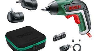 Bosch Akkuschrauber IXO Set Winkelaufsatz und Exzenteraufsatz 10 Bits USB Ladegeraet 310x165 - Bosch Akkuschrauber IXO Set (Winkelaufsatz und Exzenteraufsatz, 10 Bits, USB-Ladegerät, Softcase, 3,6 Volt, 1,5 Ah)