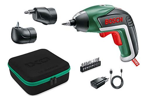 Bosch Akkuschrauber IXO Set Winkelaufsatz und Exzenteraufsatz 10 Bits USB Ladegeraet 500x330 - Bosch Akkuschrauber IXO Set (Winkelaufsatz und Exzenteraufsatz, 10 Bits, USB-Ladegerät, Softcase, 3,6 Volt, 1,5 Ah)